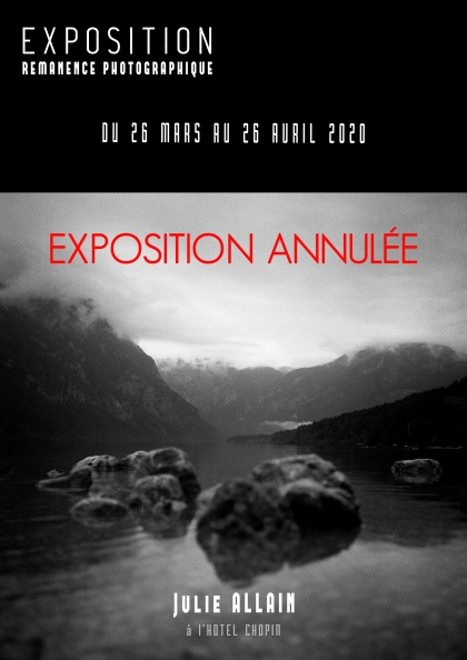 ANNULATION - flyer recto exposition hotel chopin - sans vernissage