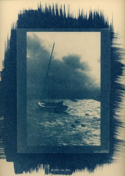 Tempête Baltique - Cyanotype
